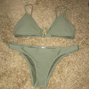 Aerie Swim Green Bikini Set - Size Large